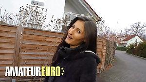 AMATEUREURO - Skinny German Babe Fucked Wide of Stranger