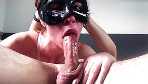 Drooling all over his cock down my throat until he comes
