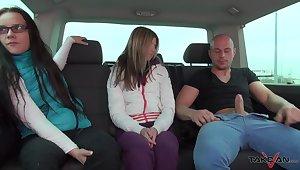 Bald headed dude fucks Czech milf Wendy Moon and Russian teen Gina Gerson