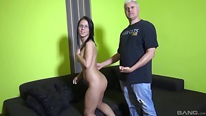 Gorgeous chick Denise Sky gets fucked by a large white dick