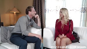 Wonderful busty MILF Katie Morgan is terrific cock riding expert