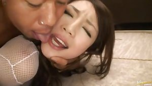 Closeup video for hardcore having it away with layman babe Riona Suzune